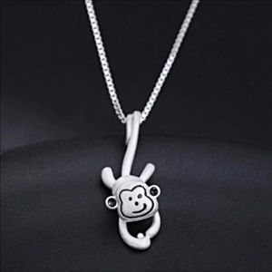 Other - Little silver Monkey hanging from his chain